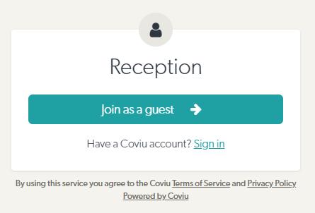 Coviu reception Montford Specialist Centre